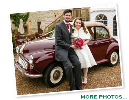 Ruth and Rob with our Morris Minor convertible