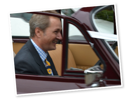 Steve, our Morris Minor wedding car chauffeur