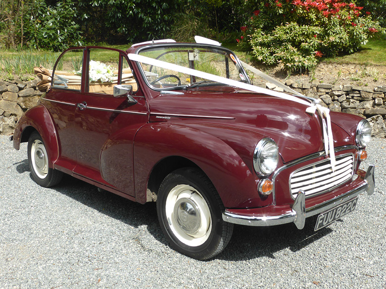Morris Minor wedding car hire Sussex