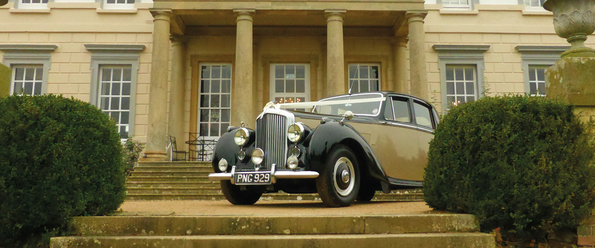 Our Bentley in front of Buxted Park Hotel